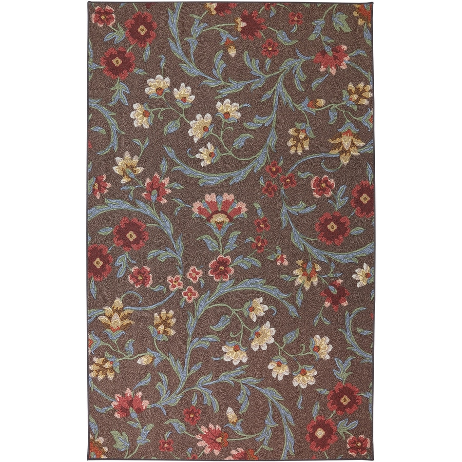 Mohawk Home India Brown Rectangular Indoor Tufted Area Rug (Common: 5 x 8; Actual: 60-in W x 96-in L x 0.5-ft Dia)