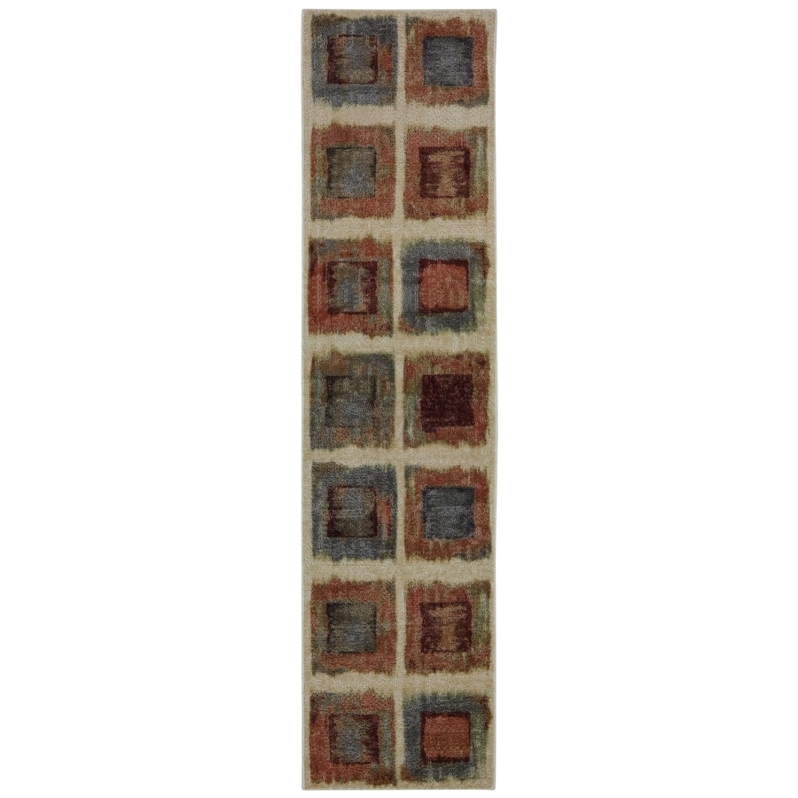 Mohawk Home Rusty Boxes Brown Rectangular Indoor Tufted Runner (Common: 2 x 8; Actual: 24-in W x 96-in L x 0.5-ft Dia)