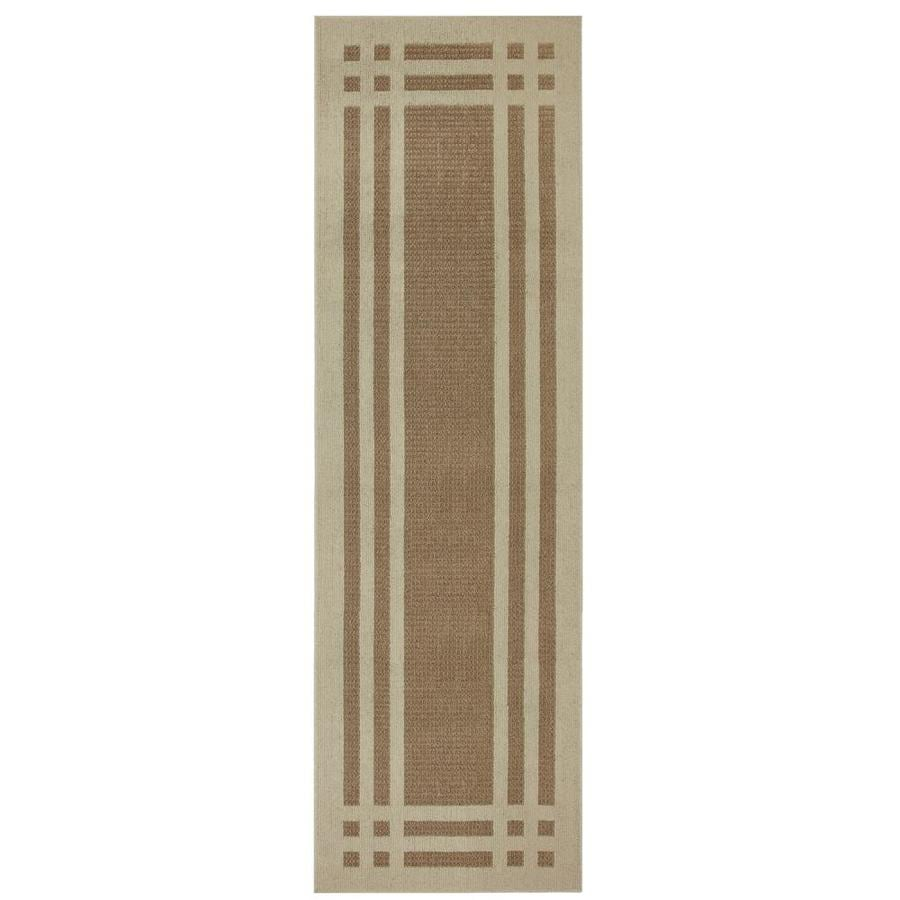 allen + roth Carney Biscuit Rectangular Indoor Machine-Made Nature Runner (Common: 2 x 8; Actual: 2-ft W x 8-ft L x 0.5-ft Dia)