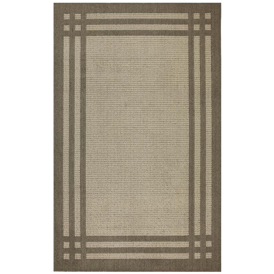 allen + roth Carney Putty Rectangular Indoor Machine-Made Inspirational Area Rug (Common: 5 x 8; Actual: 5-ft W x 8-ft L x 0.5-ft dia)