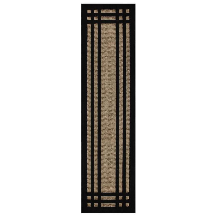 allen + roth Carney Black Rectangular Indoor Tufted Runner (Common: 2 x 8; Actual: 24-in W x 96-in L x 0.5-ft dia)