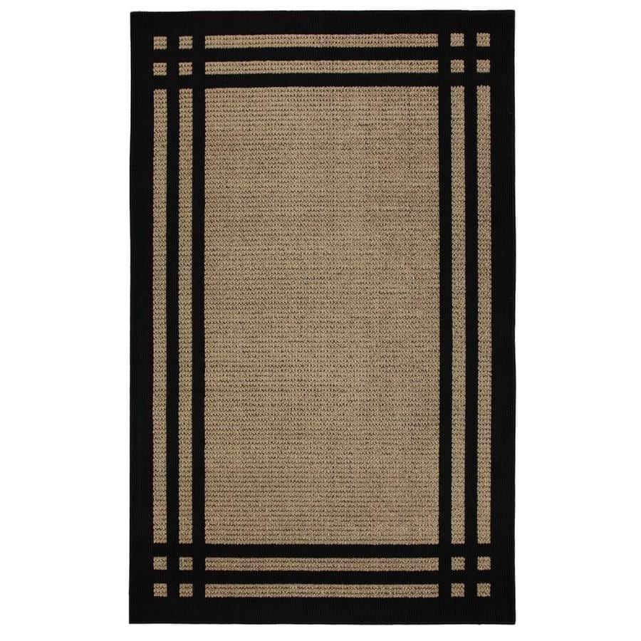 allen + roth Carney Black Rectangular Indoor Machine-Made Nature Area Rug (Common: 8 x 10; Actual: 8-ft W x 10-ft L x 0.5-ft dia)