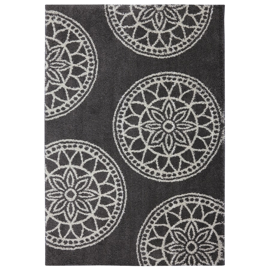 Shop Mohawk Home Gray Medallions Dark Taupe Indoor