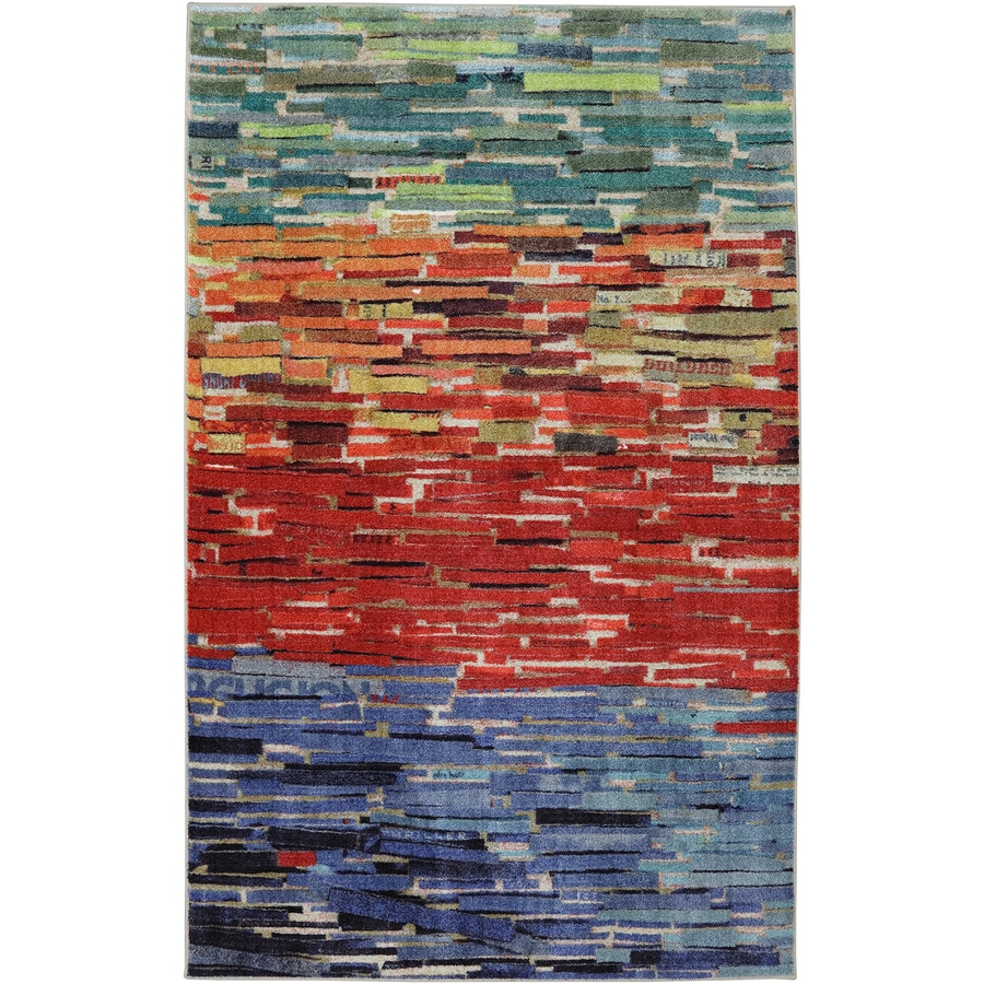 Mohawk Home Awaken Multi Red Rectangular Indoor Tufted Area Rug (Common: 5 x 7; Actual: 5-ft W x 7-ft L x 0.5-ft Dia)