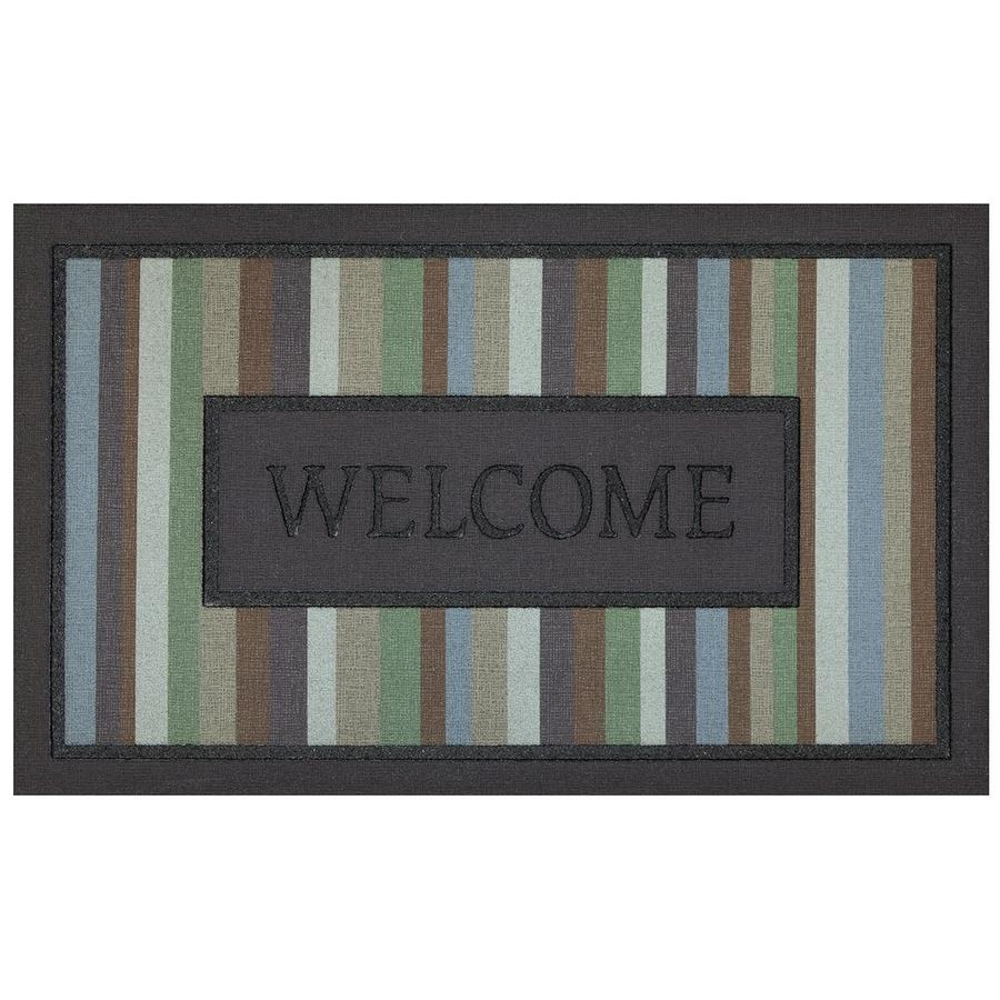 allen + roth Brown Rectangular Door Mat (Common: 1-1/2-ft x 2-1/2-ft; Actual: 18-in x 30-in)