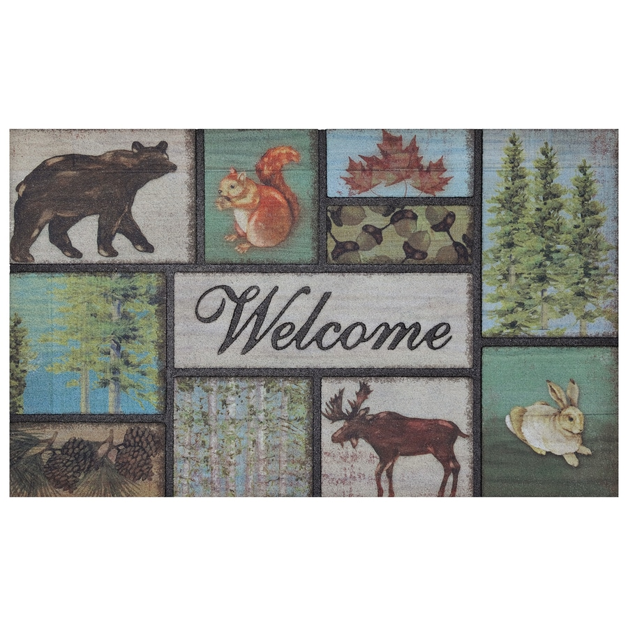 Mohawk Home Brown/Tan Rectangular Door Mat (Common: 18-in x 30-in; Actual: 18-in x 30-in)