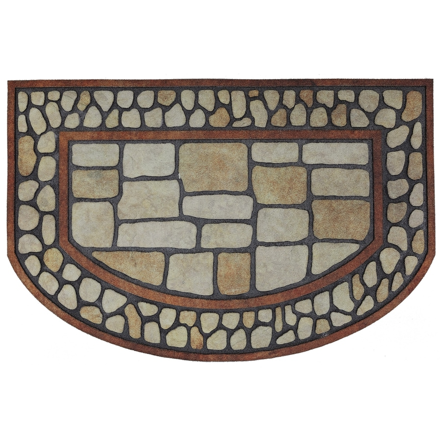 Mohawk Home Brown/Tan Semicircle Door Mat (Common: 23-in x 35-in; Actual: 23-in x 35-in)