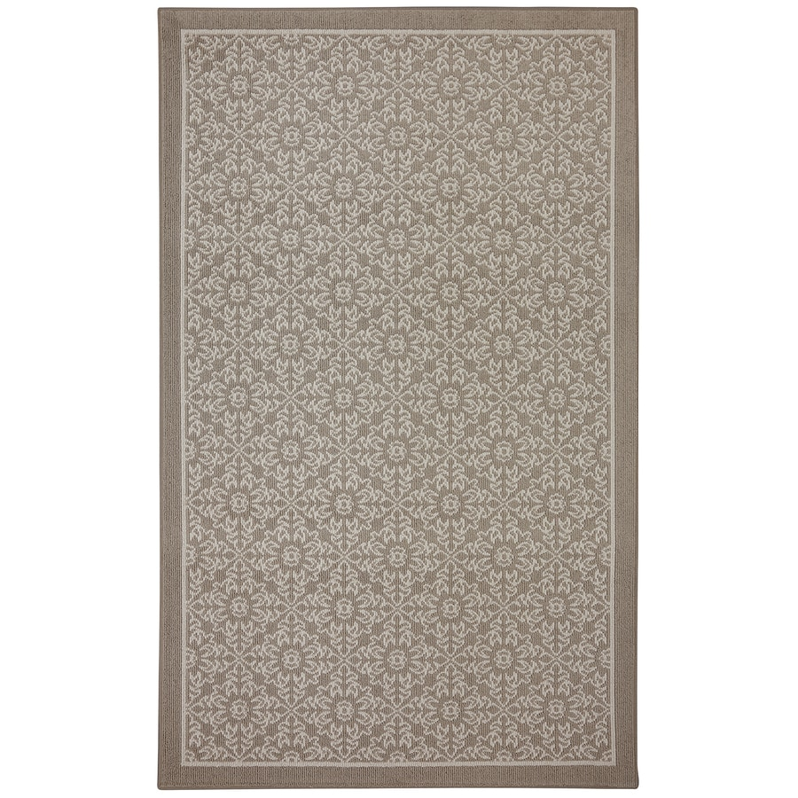 Mohawk Home Diaphanous Brown Rectangular Indoor Tufted Area Rug (Common: 5 x 7; Actual: 60-in W x 84-in L x 0.5-ft Dia)