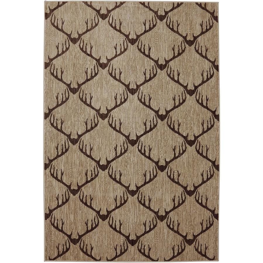Mohawk Home Dryden Latte Rectangular Indoor Woven Area Rug (Common: 5 x 8; Actual: 5.25-ft W x 7.83-ft L)
