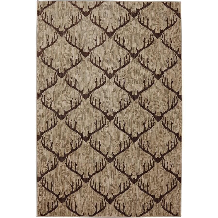 Mohawk Home Dryden Latte Rectangular Indoor Woven Area Rug (Common: 8 x 11; Actual: 8-ft W x 11-ft L)