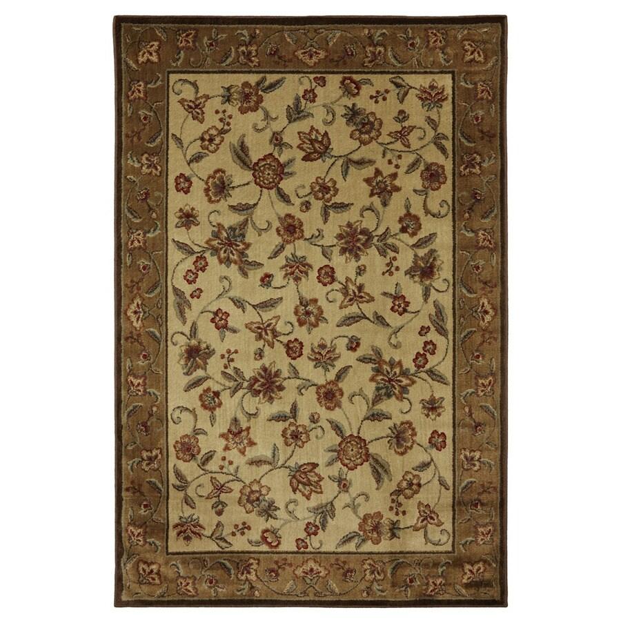 Mohawk Home Alice Brown Rectangular Indoor Woven Area Rug (Common: 9 x 12; Actual: 110-in W x 144-in L x 0.5-ft Dia)