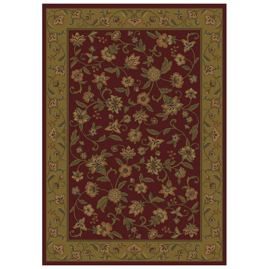 Mohawk Home Alice Rectangular Red Floral Woven Area Rug (Common: 5-ft x 8-ft; Actual: 5.25-ft x 7.83-ft)