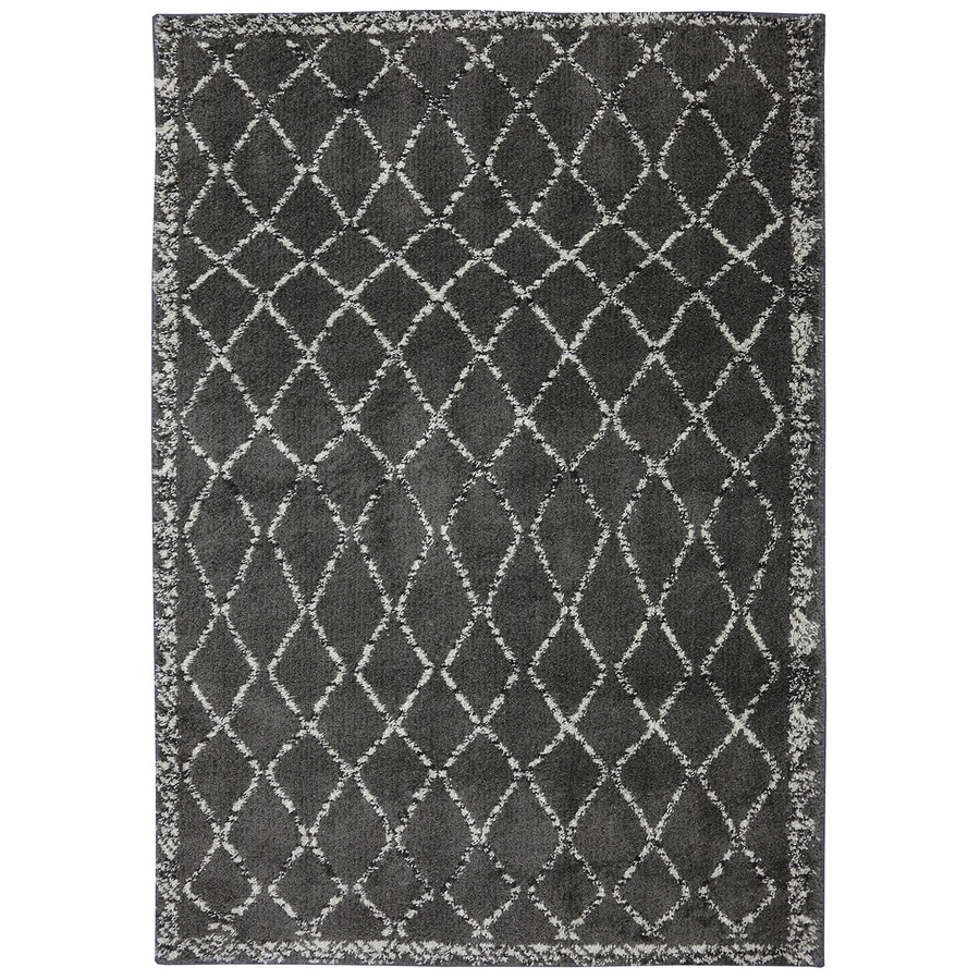 Mohawk Home Fresno Cream Rectangular Indoor Woven Area Rug (Common: 5 x 7; Actual: 5-ft W x 7-ft L x 0.5-ft Dia)