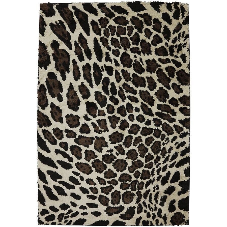 Mohawk Home Bronx Cheetah Rectangular Indoor Machine-Made Inspirational Area Rug (Common: 5 x 8; Actual: 5.25-ft W x 7.8333-ft L x 0.5-ft dia)