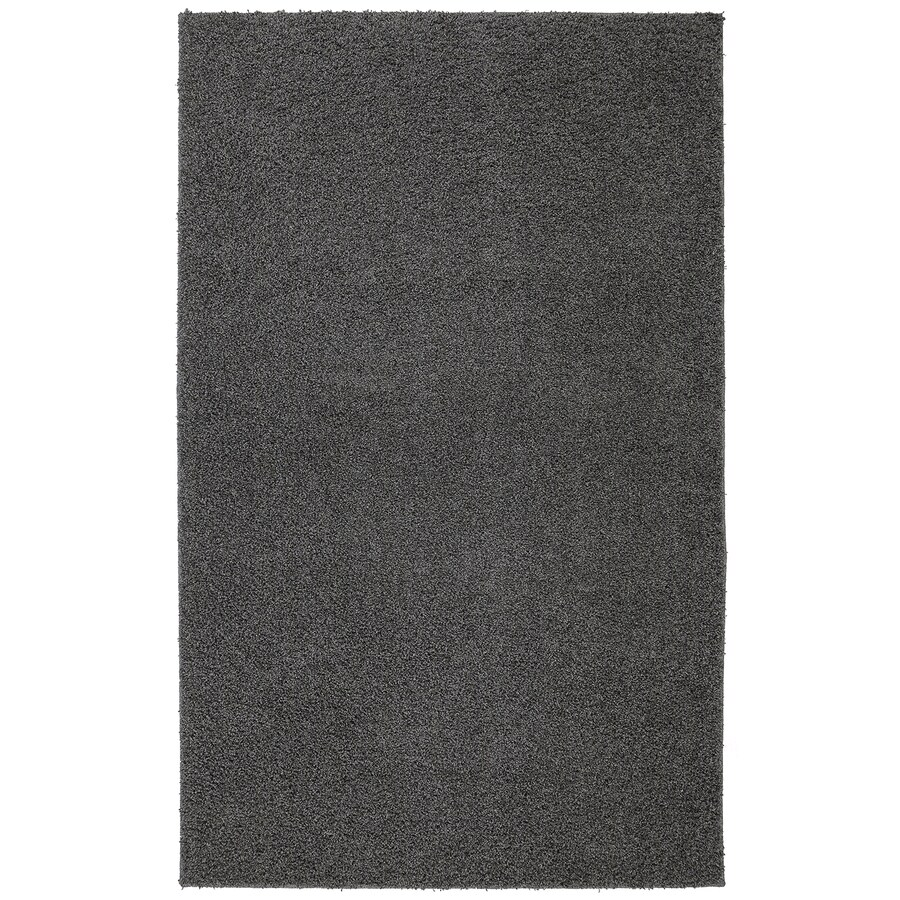 Mohawk Home Modern Shag Earth Gray Rectangular Indoor Machine-Made Inspirational Area Rug (Common: 5 x 8; Actual: 5-ft W x 8-ft L x 0.5-ft dia)