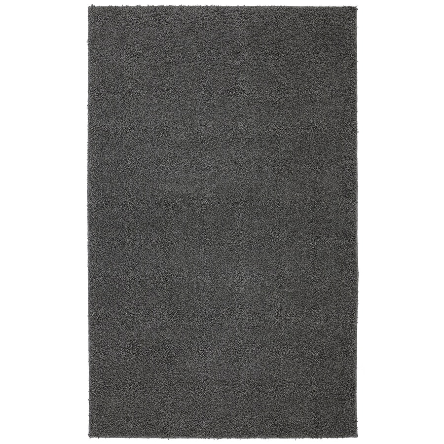 Mohawk Home Modern Shag Earth Gray Rectangular Indoor Machine-Made Inspirational Area Rug (Common: 8 x 10; Actual: 8-ft W x 10-ft L x 0.5-ft dia)