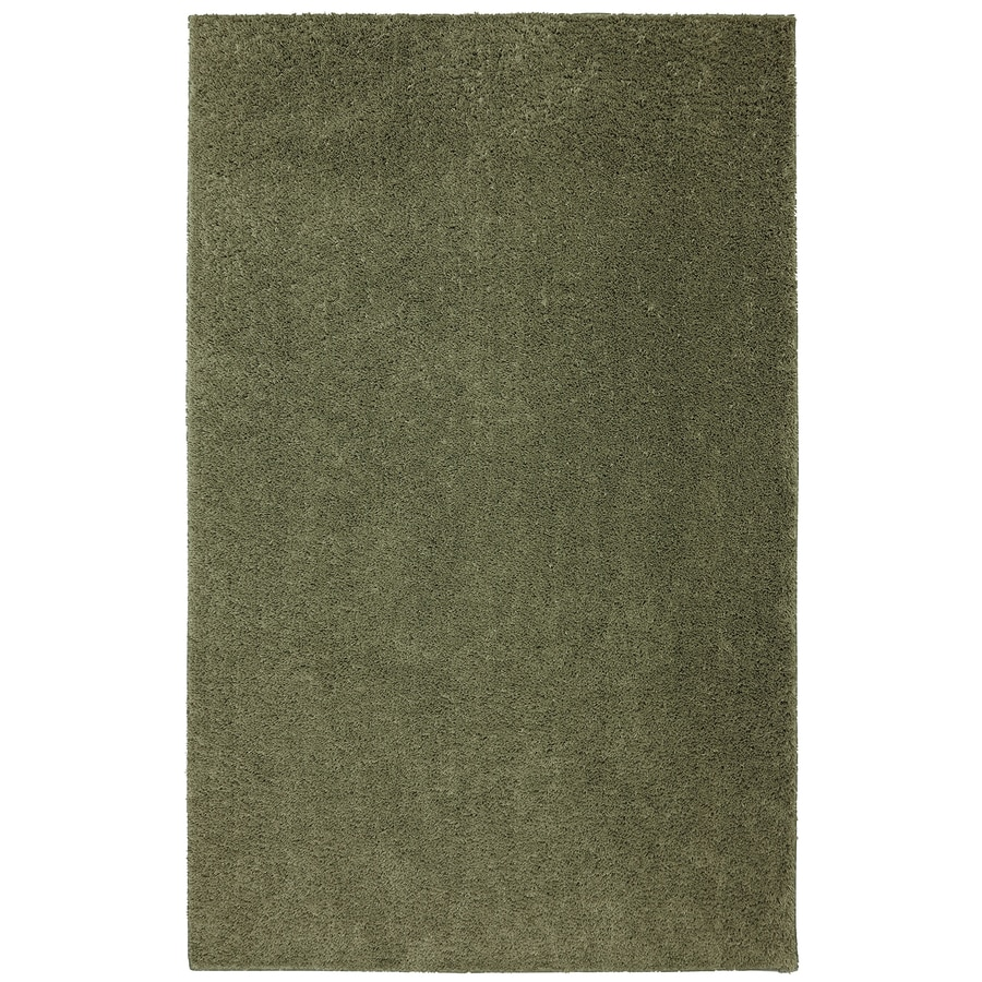 Mohawk Home Modern Shag Light Pine Green Rectangular Indoor Tufted Area Rug (Common: 5 x 8; Actual: 60-in W x 96-in L x 0.5-ft Dia)