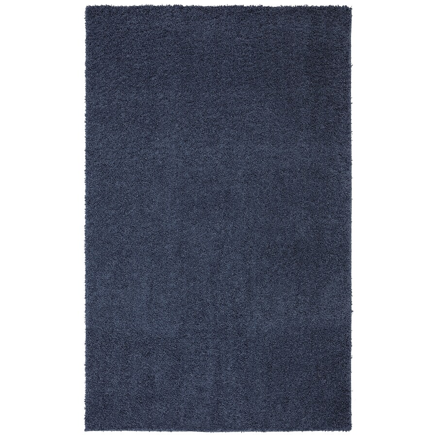 Mohawk Home Modern Shag Twilight Blue Rectangular Indoor Tufted Area Rug (Common: 8 x 10; Actual: 96-in W x 120-in L x 0.5-ft Dia)