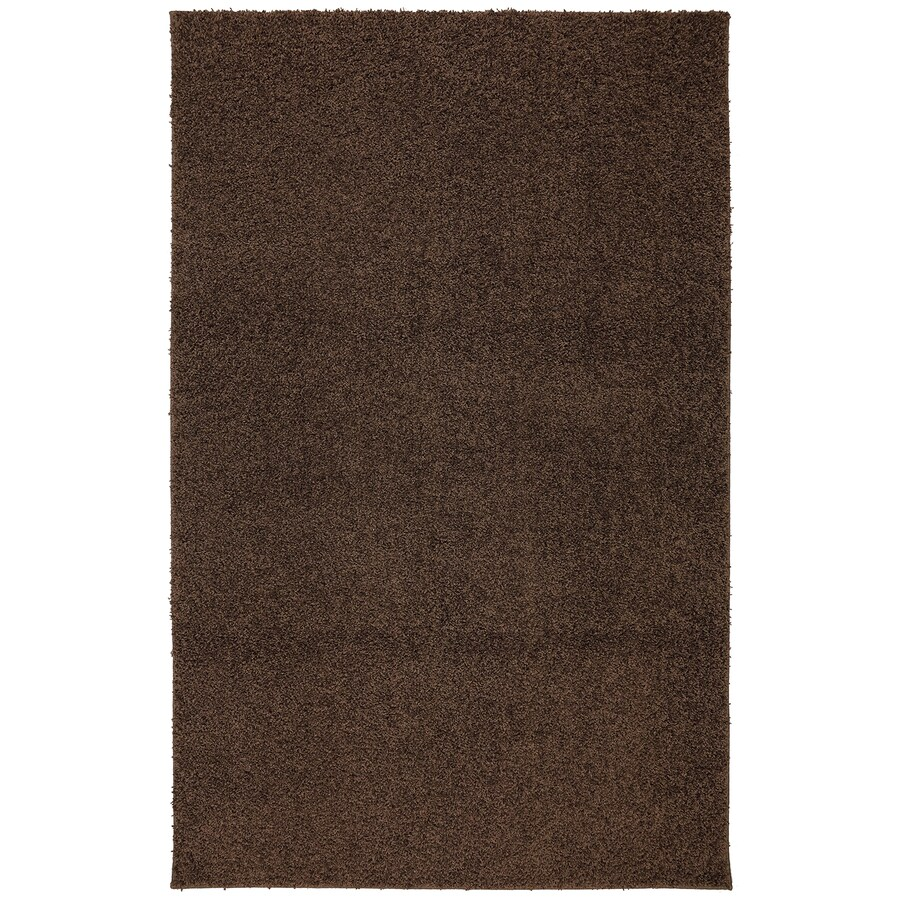 Mohawk Home Modern Shag Medium Brown Brown Rectangular Indoor Tufted Area Rug (Common: 8 x 10; Actual: 96-in W x 120-in L x 0.5-ft Dia)