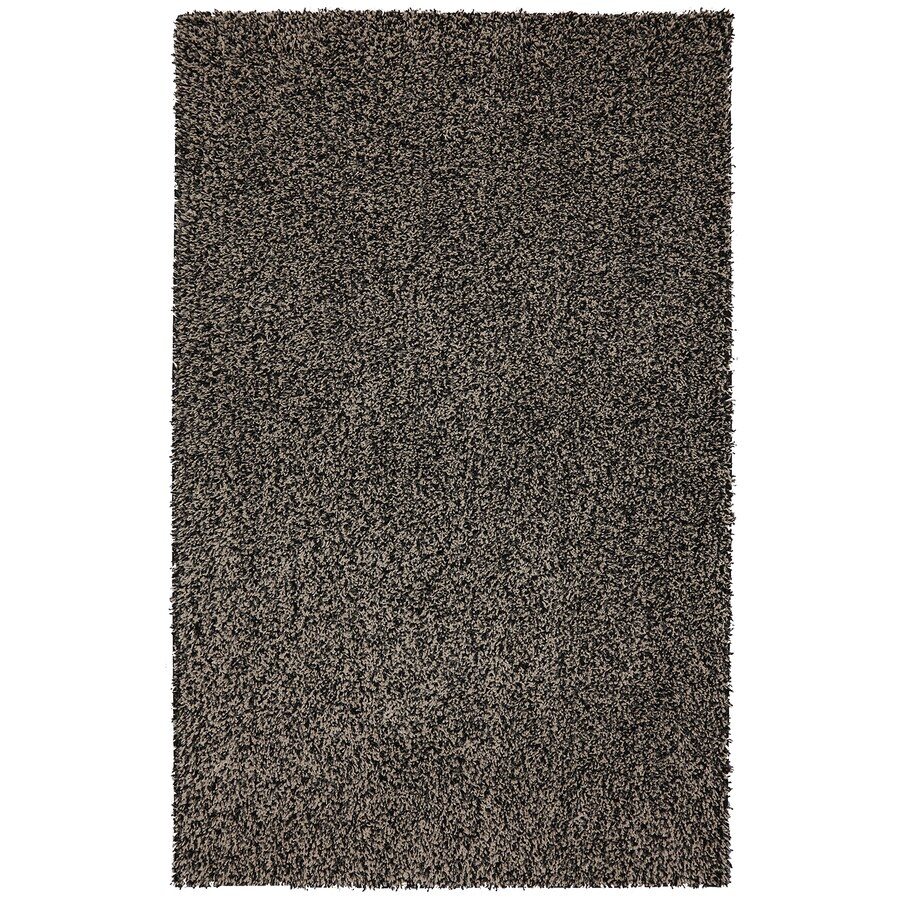 Mohawk Home Vibrations Shag Black Multi Black Rectangular Indoor Tufted Area Rug (Common: 8 x 10; Actual: 96-in W x 120-in L x 0.5-ft Dia)