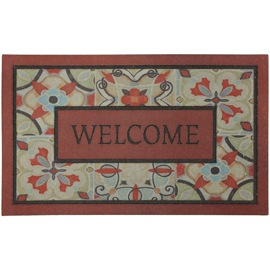 Mohawk Home Red/Pink Rectangular Door Mat (Common: 18-in x 30-in; Actual: 18-in x 30-in)