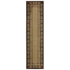 Mohawk Home Leaf Point Brown Indoor Inspirational Runner Common 2 X 8 Actual