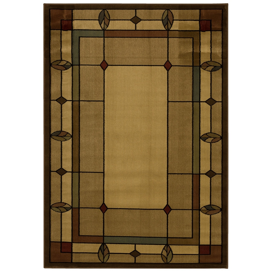 Mohawk Home Leaf Point Brown Indoor Inspirational Area Rug Common 5 X 8
