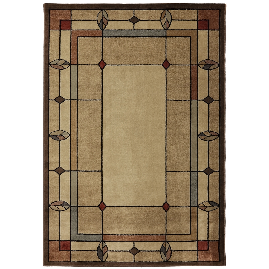 Mohawk Home Leaf Point Multi Brown Rectangular Indoor Woven Area Rug (Common: 8 x 10; Actual: 7.8333-ft W x 10.75-ft L x 0.5-ft Dia)