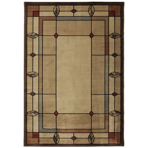 Mohawk Home Leaf Point Multi Brown Indoor Vintage Area Rug