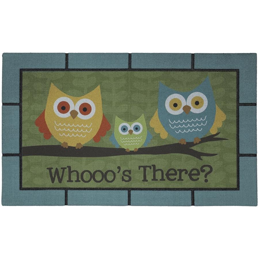 Mohawk Home Aqua/Turquoise Rectangular Door Mat (Common: 18-in x 30-in; Actual: 18-in x 30-in)