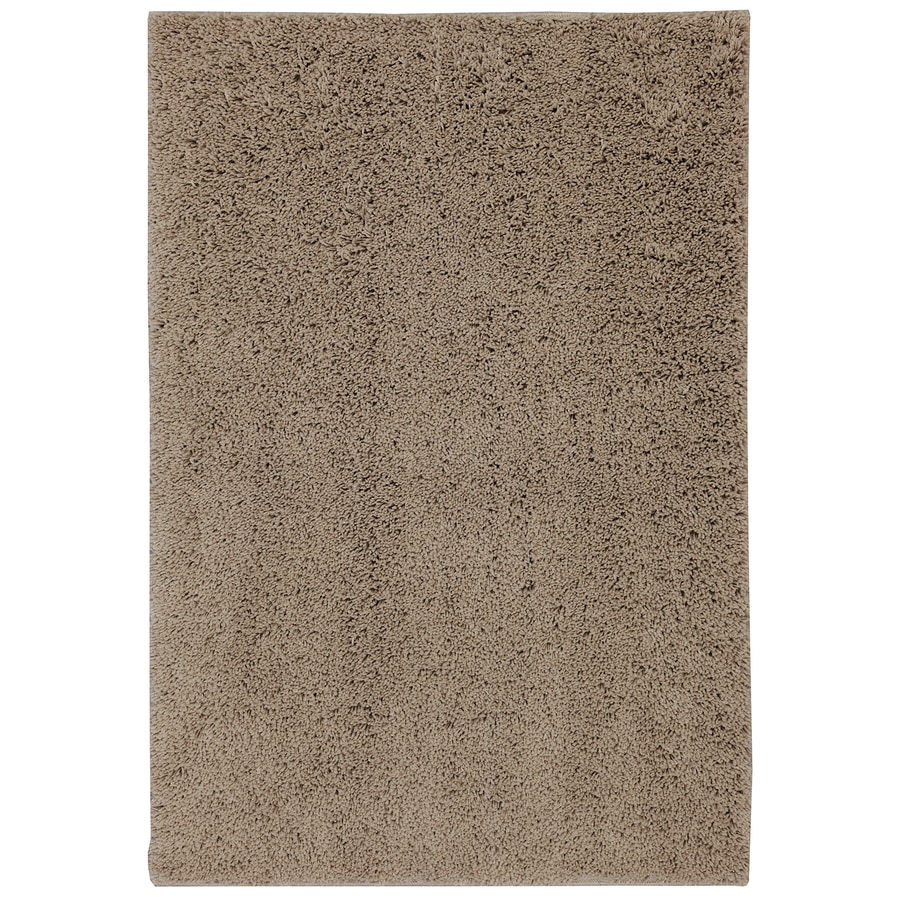 Mohawk Home Shaggedy Shag Taupe Brown Rectangular Indoor Machine-Made Inspirational Runner (Common: 3 x 6; Actual: 4-ft W x 6-ft L x 0.5-ft dia)
