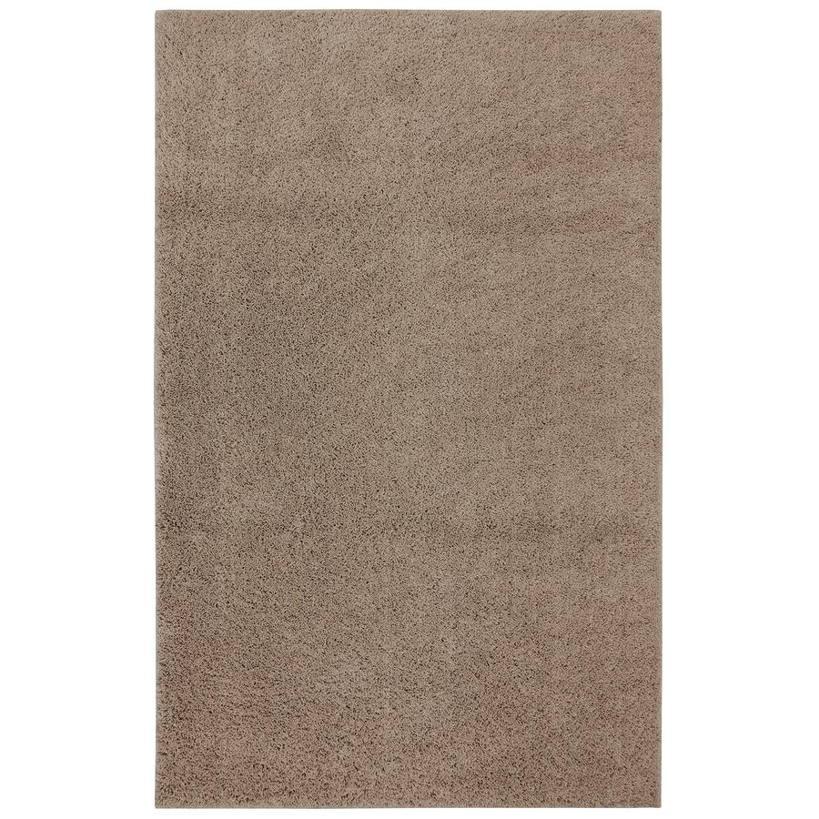 Mohawk Home Shaggedy Shag Taupe Brown Rectangular Indoor Shag Area Rug  (Common: 8 X
