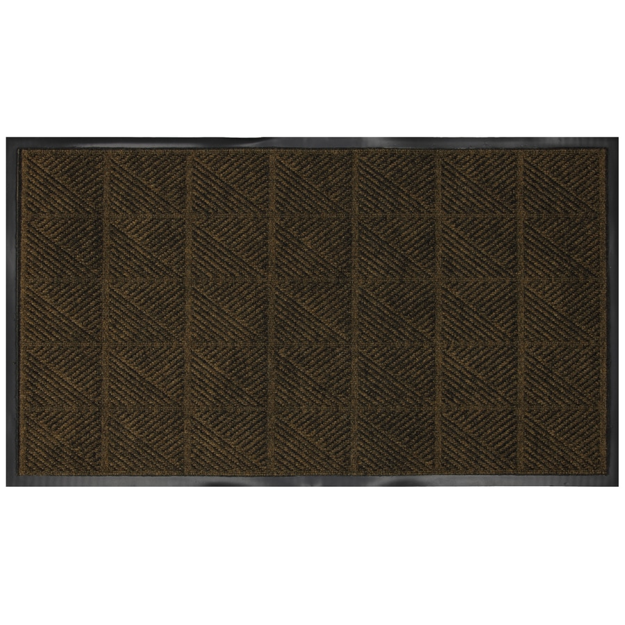 Mohawk Home Brown Rectangular Door Mat (Common: 27-in x 45-in; Actual: 26-in x 47-in)
