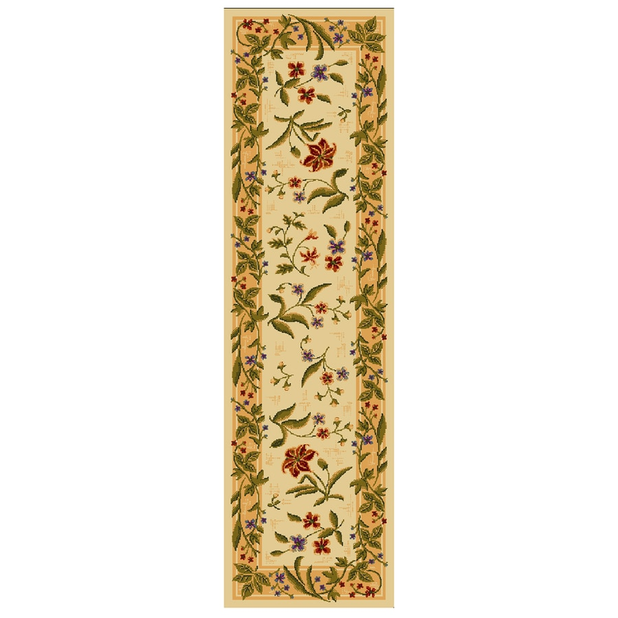 2x8 runner rug. Mohawk Home Summer Flowers Beige Rectangular Indoor Tufted Runner (Common: 2 X 8 2x8 Rug
