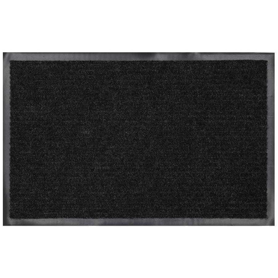 Superbe Mohawk Home Utility Bay Black Rectangular Door Mat (Common: 3 Ft X 4