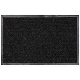 Mohawk Home Utility Bay Black Rectangular Door Mat (Common: 3 Ft X 4