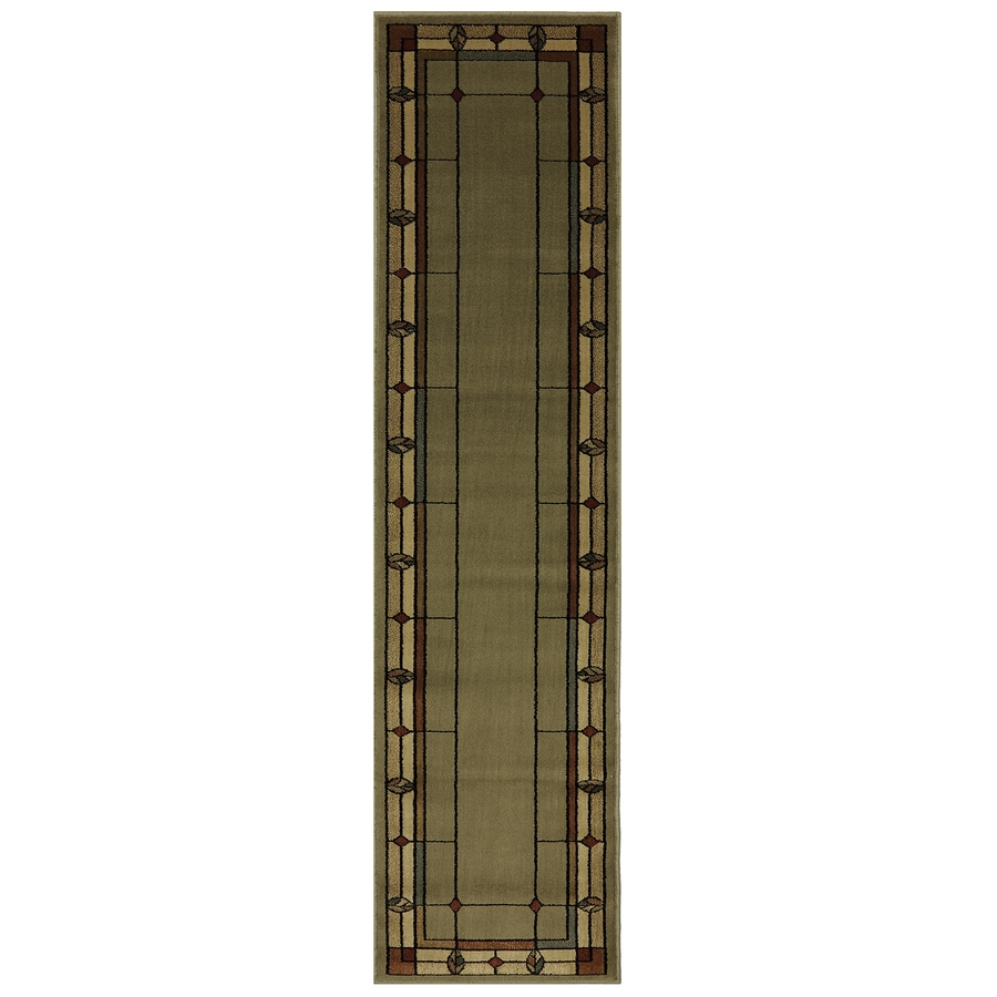 Mohawk Home Leaf Point Celedon Rectangular Indoor Woven Runner (Common: 2 x 8; Actual: 1.9166-ft W x 7.5833-ft L x 0.5-ft Dia)