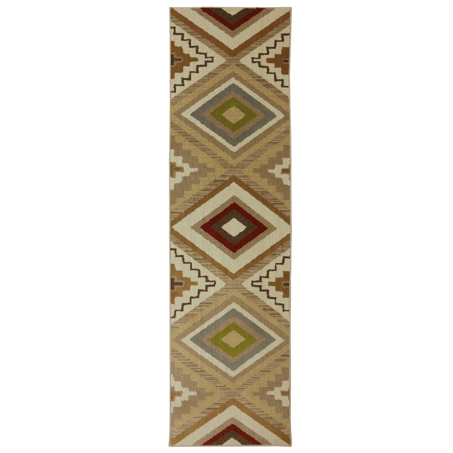 Mohawk Home Veleste Brown Rectangular Indoor Woven Runner (Common: 2 x 8; Actual: 2.0833-ft W x 7.8333-ft L x 0.5-ft Dia)