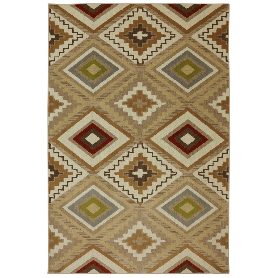 Mohawk Home Veleste Brown Rectangular Indoor Woven Area Rug (Common: 5 x 8; Actual: 5.25-ft W x 7.8333-ft L x 0.5-ft Dia)