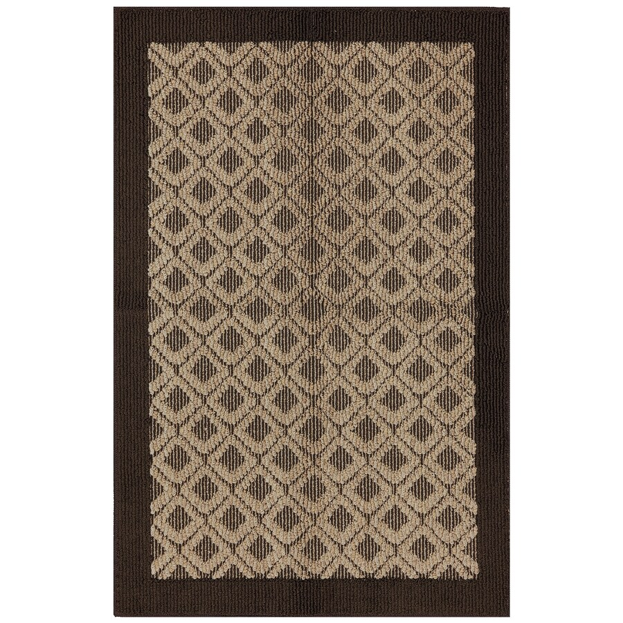 Mohawk Home Diamond Shoals Brown Rectangular Indoor Tufted Throw Rug (Common: 3 x 4; Actual: 2.5-ft W x 3.8333-ft L x 0.5-ft Dia)
