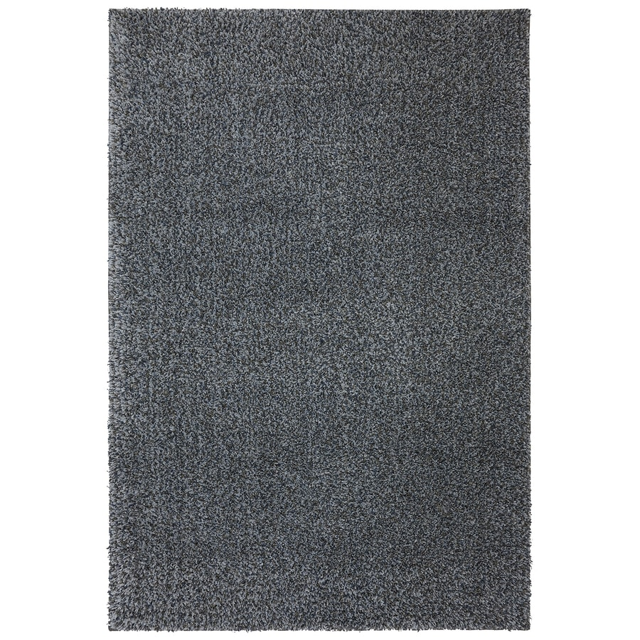 Mohawk Home Vibrations Shag Gray Multi Gray Rectangular Indoor Tufted Area Rug (Common: 5 x 8; Actual: 60-in W x 96-in L x 0.5-ft Dia)