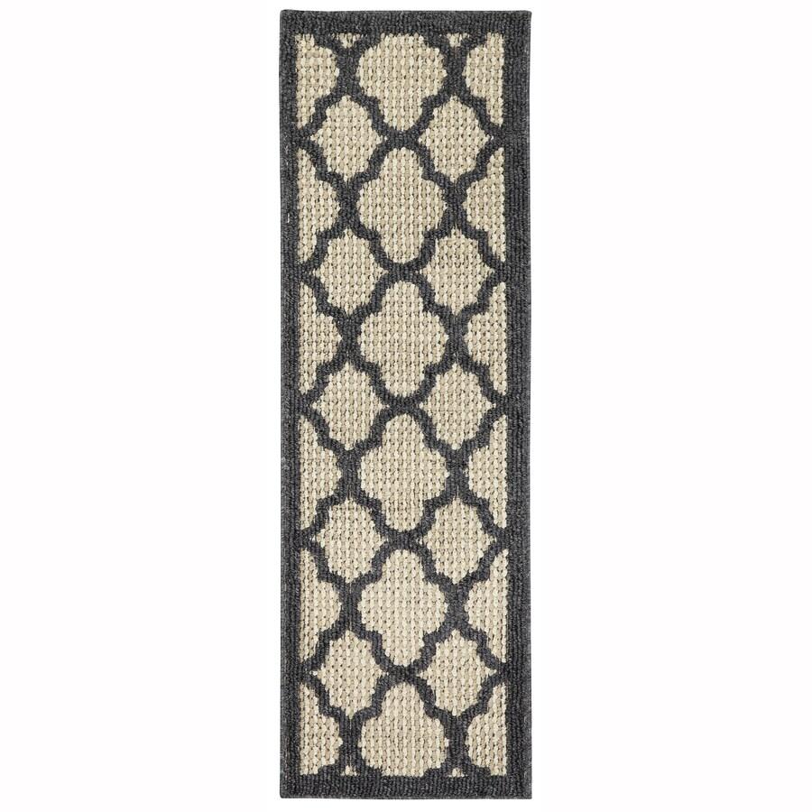 Mohawk Home Pekoe Charcoal/Cream Rectangular Indoor Tufted Runner (Common: 2 x 5; Actual: 1.6666-ft W x 5-ft L x 0.5-ft Dia)