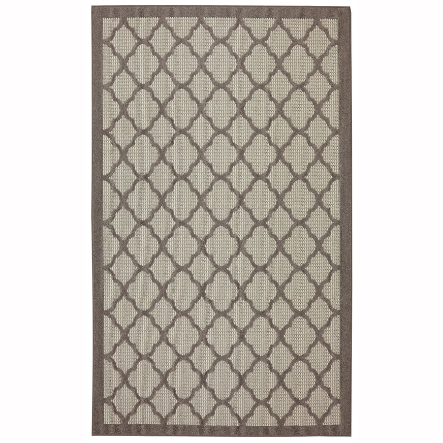 Mohawk Home Pekoe Praline Cream Rectangular Indoor Tufted Area Rug (Common: 5 x 8; Actual: 5-ft W x 8-ft L x 0.6-ft Dia)