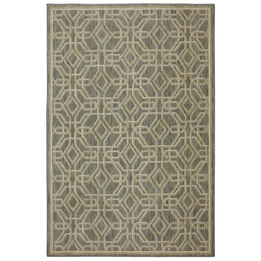 Bob Timberlake Reflections Natural Cotton Rectangular Indoor Machine-Made Inspirational Area Rug (Common: 5 x 8; Actual: 5.25-ft W x 7.8333-ft L x 0.5-ft dia)