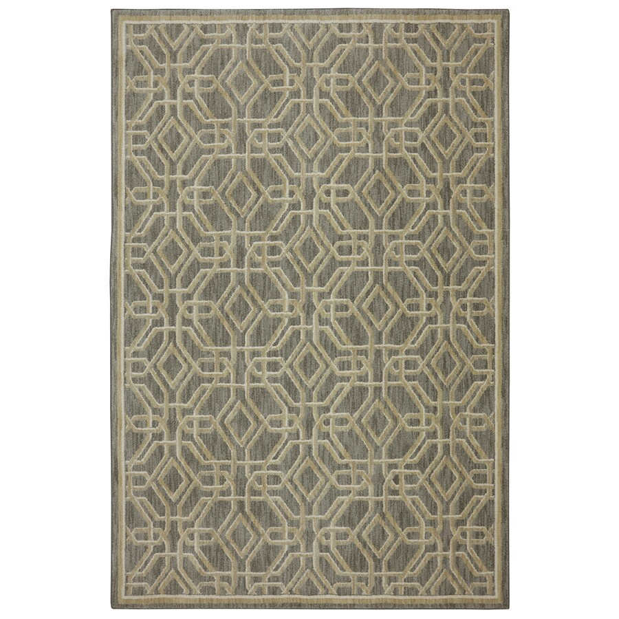 Bob Timberlake Reflections Natural Cotton Rectangular Indoor Machine-Made Inspirational Area Rug (Common: 8 x 10; Actual: 8-ft W x 10-ft L x 0.5-ft dia)