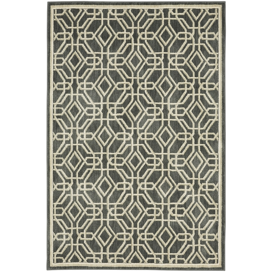 Bob Timberlake Reflections Natural Cotton Rectangular Indoor Woven Area Rug (Common: 5 x 8; Actual: 5.25-ft W x 7.8333-ft L x 0.5-ft Dia)