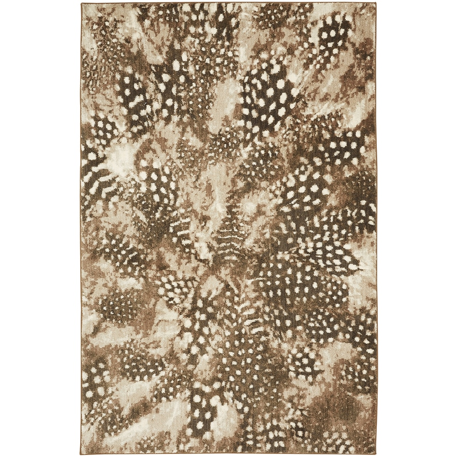 Bob Timberlake Reflections Natural Cotton Rectangular Indoor Woven Area Rug (Common: 5 x 8; Actual: 63-in W x 94-in L x 0.5-ft Dia)