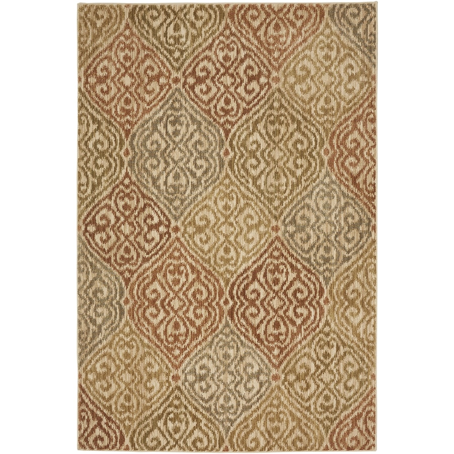 Bob Timberlake Heritage Copper Rectangular Indoor Machine-Made Inspirational Area Rug (Common: 5 x 8; Actual: 5.25-ft W x 7.8333-ft L x 0.5-ft dia)