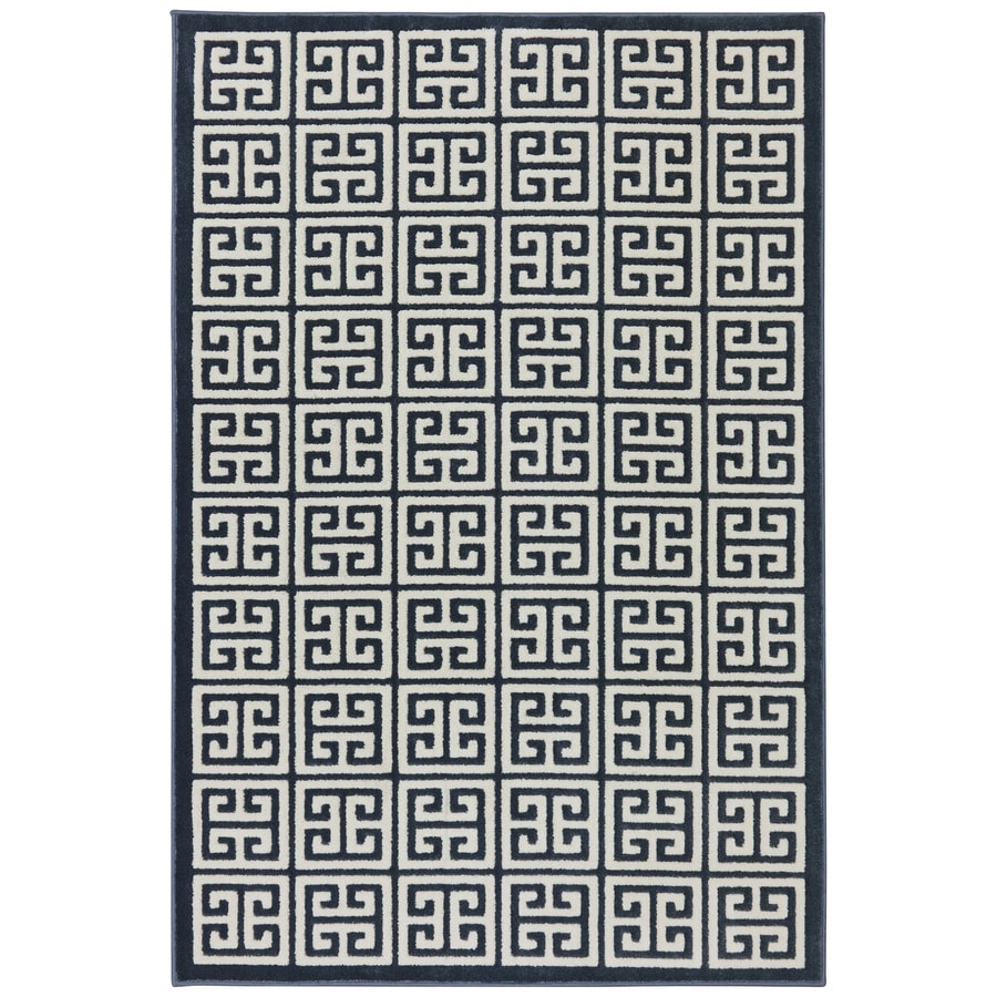 Mohawk Home Corsica Dark Slate Rectangular Indoor Woven Area Rug (Common: 5 x 8; Actual: 5.25-ft W x 7.8333-ft L x 0.5-ft Dia)