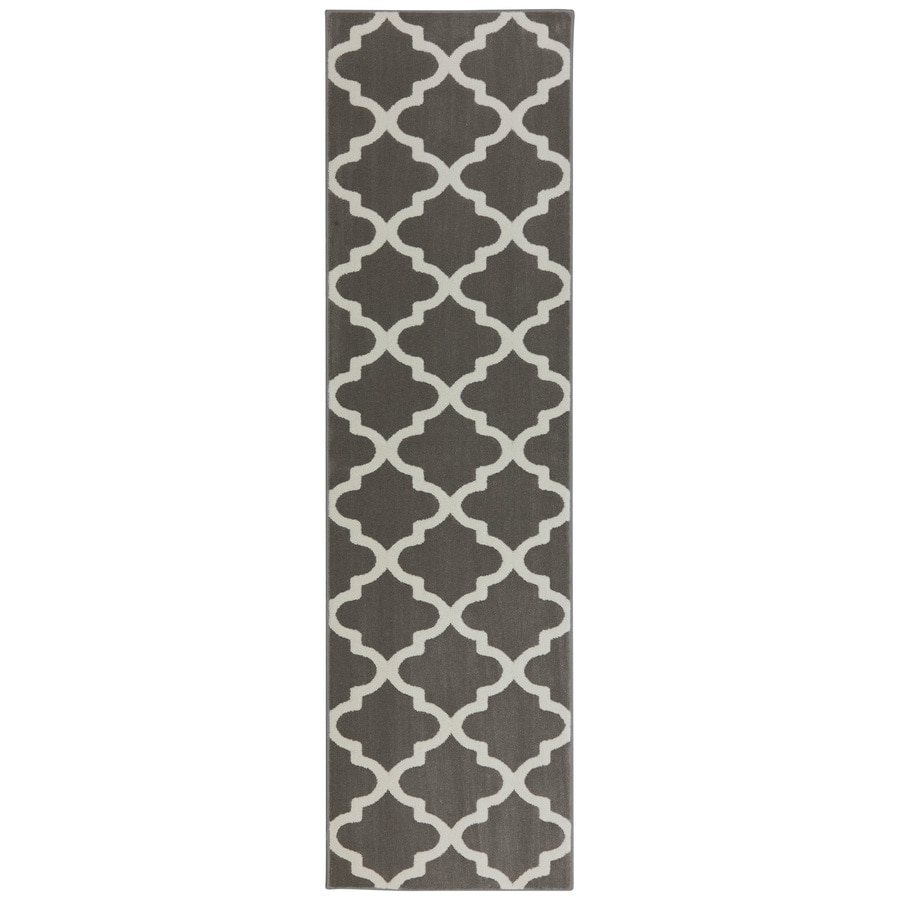 allen + roth Elysian Trellis Brindle Rectangular Indoor Woven Runner (Common: 2 x 8; Actual: 2.0833-ft W x 7.8333-ft L x 0.5-ft Dia)